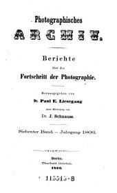 Photographisches Archiv ; Journal des allgemeinen deutschen Photographen-Vereins