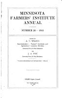 Minnesota Farmers  Institute Annual     PDF