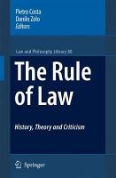 The Rule of Law History  Theory and Criticism PDF