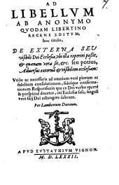 Ad Libellum ab Anonymo quodam libertino recens Responsio