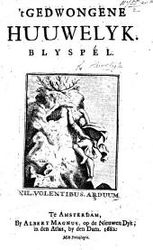 "'t Gedwongene Huuwelijk: blyspel [in three acts and in verse. From the ""Mariage Forçé"" of Molière. By A. Peys]."