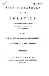 Tien lierzangen van Horatius