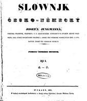 Slownik c̆esko-nĕmecký: Svazek 1