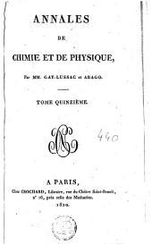 Annales de chimie et de physique: Volume15