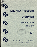 Dry Milk Products Utilization & Production Trends