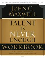 Talent is Never Enough Workbook PDF