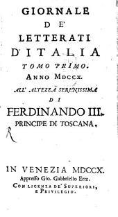 Giornale de'letterati d'Italia: Volume 1