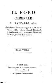 Il foro criminale: Volume 3