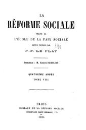La Réforme sociale: Volume8