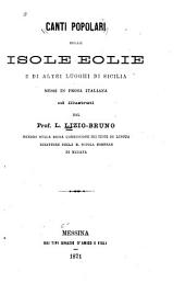 Canti popolari delle Isole Eolie e di altri luoghi di Sicillia: messi in prosa italiana ed illus
