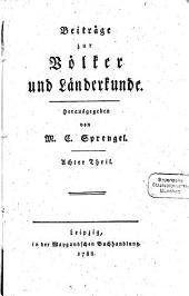 Beiträge zur Völker- und Länderkunde: Band 8