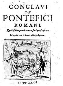 Conclaui de pontefici romani  Quali si sono potuti trouare fin    questo giorno  etc   Compiled by Gregorio Leti   PDF
