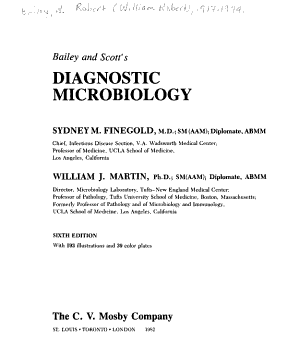 Bailey and Scott s Diagnostic Microbiology PDF