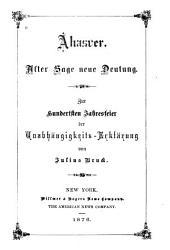 Ahasver: alter Sage neue Deutung : zur hundertsten Jahresfeier der Unabhängigkeits-Erklärung