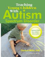 Teaching Young Children with Autism Spectrum Disorder PDF