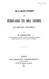De la divine autorité des écrivains et des livres du Nouveau Testament