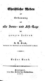 Christl. Reden-Sammlungen: Band 1