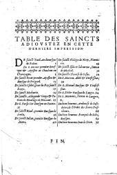 Fleurs des vies des saincts, et des festes toute l'année, selon le calendrier romain reformé