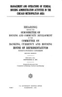 Management and Operations of Federal Housing Administration Activities in the Chicago Metropolitan Area PDF