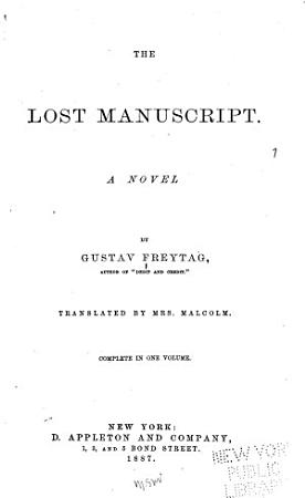 The Lost Manuscript PDF
