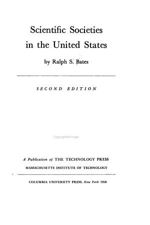 Scientific Societies in the United States