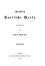 Herders s  mmtliche Werke PDF