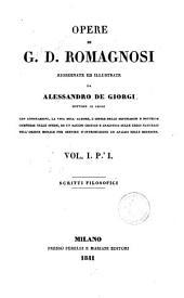 Opere di G. D. Romagnosi: 1: Scritti filosofici