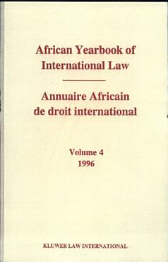 African Yearbook of International Law Annuaire Africain De Droit International PDF