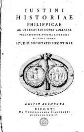 Historiae philippicae ad optimas editiones collatae praemittitiur notitia literaria