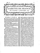 Gazette de France: journal politique. 1764