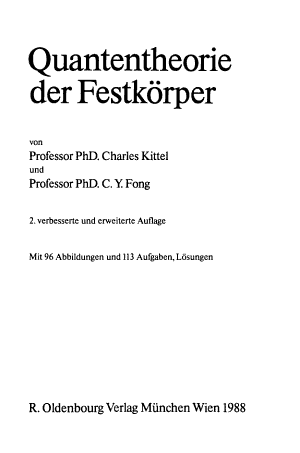 Quantentheorie der Festk  rper PDF
