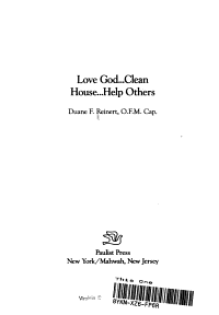 Love God     Clean House     Help Others