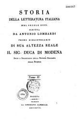 Storia della letteratura italiana nel secolo XVIII