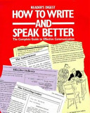 How to Write and Speak Better PDF