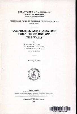 Compressive and Transverse Strength of Hollow tile Walls PDF