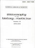 Bibliography of the History of Medicine PDF