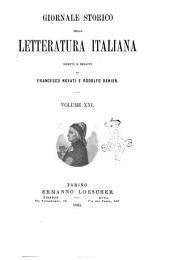 Giornale storico della letteratura italiana: Volume 21
