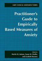 Practitioner s Guide to Empirically Based Measures of Anxiety PDF