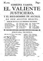 Comedia famosa, El Valiente justiciero, y el rico-hombre de Alcalà