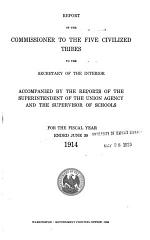 Report of the Superintendent for the Five Civilized Tribes of Oklahoma