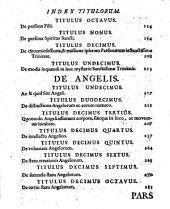 Theologia Selecta Scotistica: Divisa In Tres Partes. De Deo Ut Trino Et Angelis, Volume 2