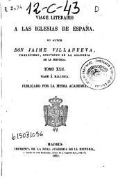 Viage literario a las iglesias de España: Viage a Mallorca, Volumen 22