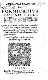 Myrmecia bonorum, sive formicarius (etc.)