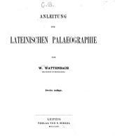 Anleitung zur lateinischen Palaeographie PDF