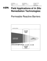 Field applications of in situ remediation technologies permeable reactive barriers  PDF