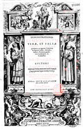 Demonstrationes symbolorum verae, et falsae religionis aduersus praecipuos, ac vigentes catholicae religionis hostes, atheistas, Iudaeos, haereticos, praesertim Lutheranos, & Caluinistas. In duos tomos distributae. Auctore F. Zacharia Bouerio salutiensi, ordinis minorum sancti Francisci congregationis capuccinorum, theologo. Nunc primum in lucem prodeunt, duobus tum locorum S. Scripturae, tum rerum magis insignium indicibus illustratae. Ad haec vocum Hebraicarum series accurata inferitur. Tomus primus [- Tomus secundus]