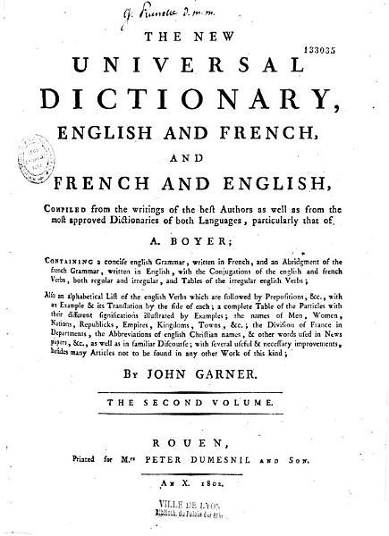 Download Le nouveau dictionnaire universel fran  ois anglois et anglois fran  ois Book