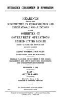 Interagency Coordination of Information PDF