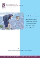 Agriculture, sécurité alimentaire, nutri tion et les Objectifs du Millénaire pour le Développement
