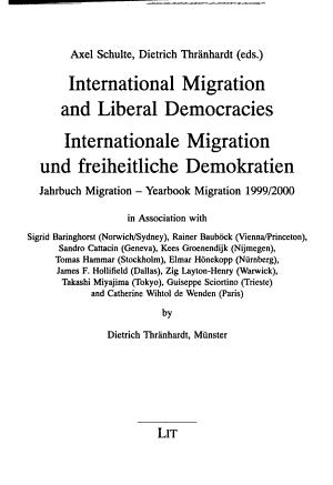 International Migration and Liberal Democracies PDF